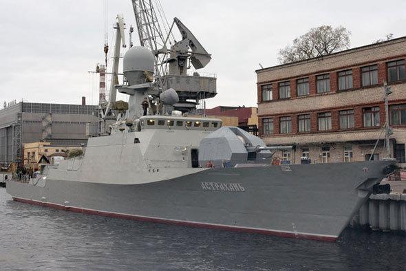 俄里海舰队装备的21630隐形炮舰