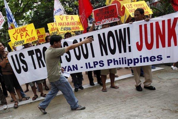 菲律宾反美示威活动