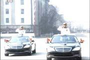 现场礼仪车辆绕场行驶