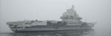 海试中的中国首艘航母平台