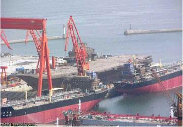 2005年到达大连港口的瓦良格号