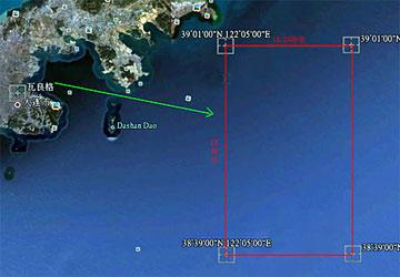 我国航母在黄海的主要海试区域