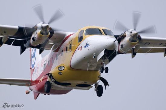 中航工业哈飞研制的运-12F在珠海航展现场表演