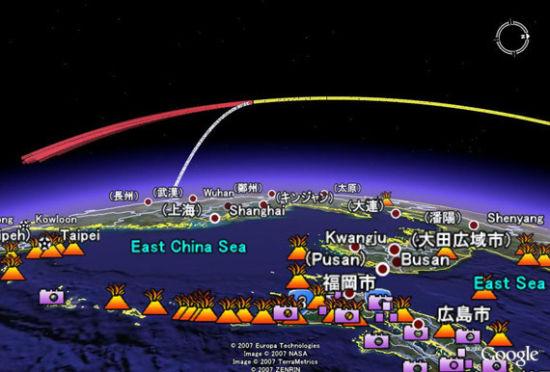 日媒刊载的中国反卫星试验示意图