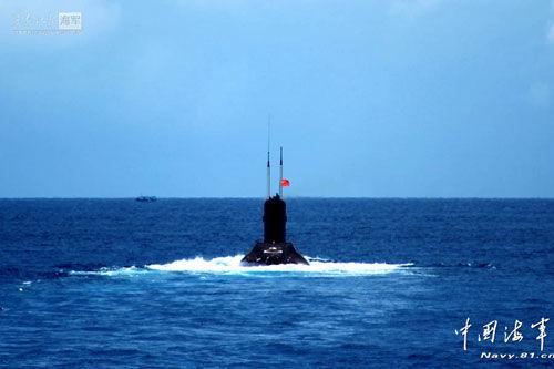 资料图:南海舰队潜艇演练