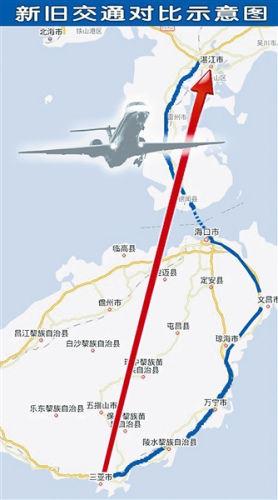 湛江到三亚新航班的开通