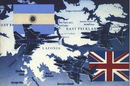 1982年4月到6月间,英国和阿根廷为争夺马岛的主权开战。