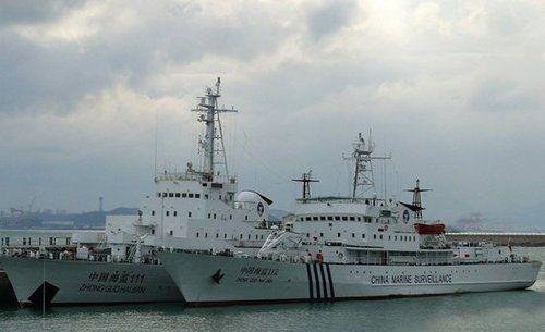 资料图:由海军退役军舰改装的海监船近期加入海监队伍