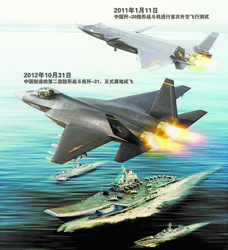 中国第二款隐形战机首飞效果图 CFP供图