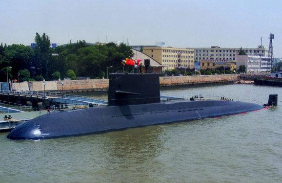 已经服役的国产039A元级常规潜艇。