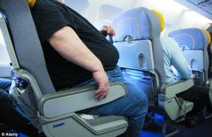 """由于胖人专座的设立,常规座位要""""缩水""""2.5厘米。"""