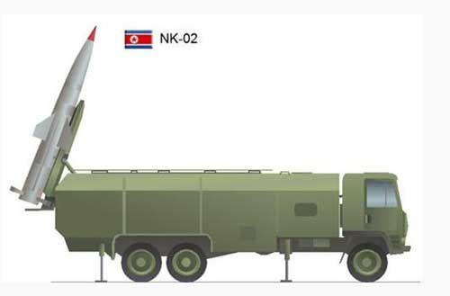 资料图:朝鲜KN-02近程弹道导弹效果图