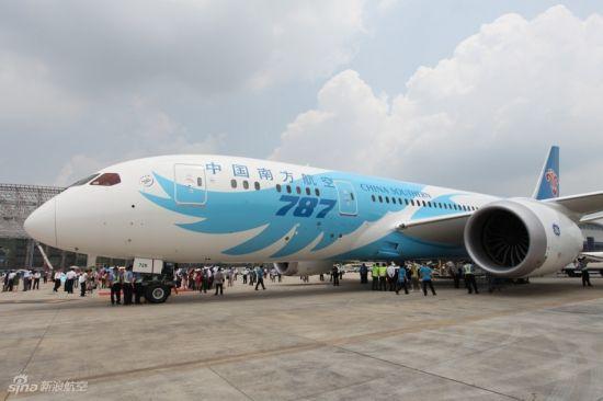 资料图:南航波音787客机.-南航波音787下月起执飞成都至广州航线