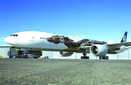 """新西兰航空""""霍比特人""""主题飞机"""