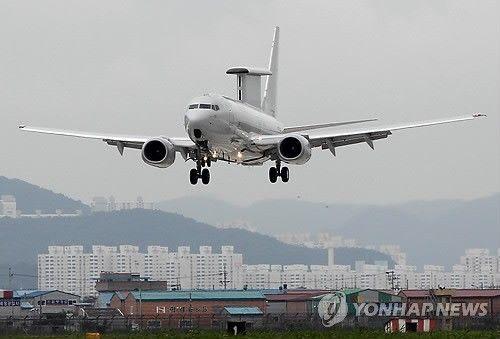"""韩国空军装备的E-737""""和平楔尾""""预警机(资料图)"""