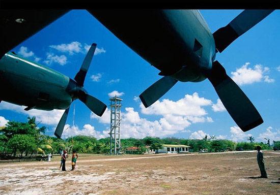 资料图:南沙中业岛上目前建有菲军基地