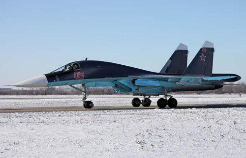 资料图:俄罗斯苏-34战斗轰炸机