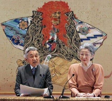 资料图:日本天皇明仁和皇后美智子