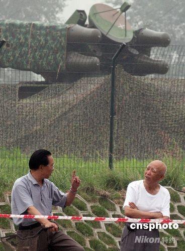 北京奥运主场馆鸟巢布防的中国制造红旗7型防空导弹