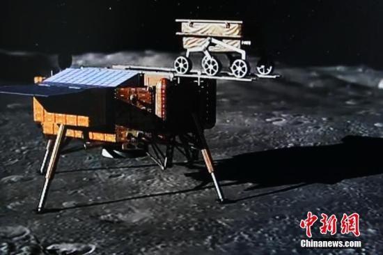 图为嫦娥三号登月。(效果图)图片来源:东方IC 版权作品