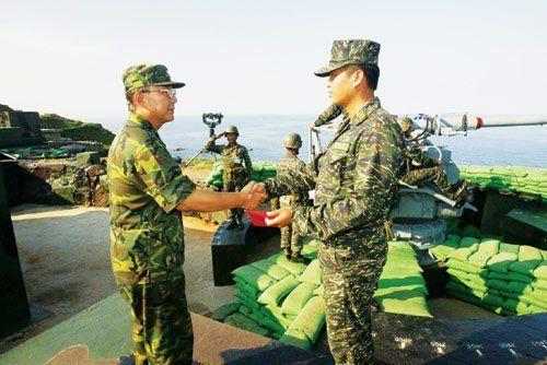 资料图:驻太平岛的台军部队。