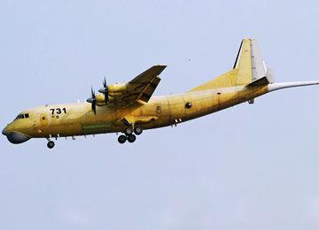编号为731的中国高新6号反潜巡逻机试飞照