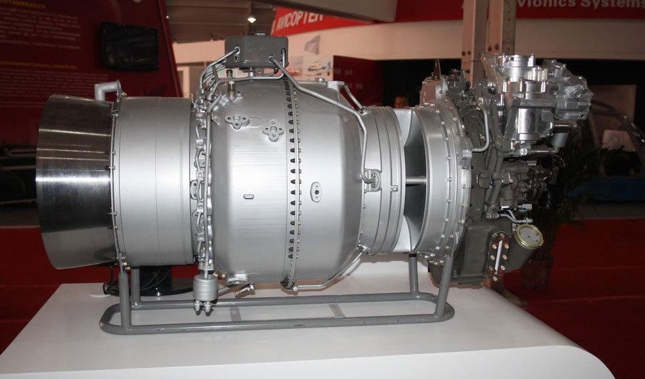 公开展示的涡轴-16发动机