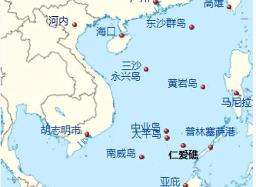 仁爱礁在南沙群岛中的位置