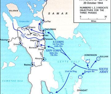1944年10月20日莱特湾海战战况