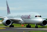 卡塔尔航空787客机抵达现场