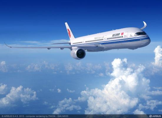 国航A350-900飞机