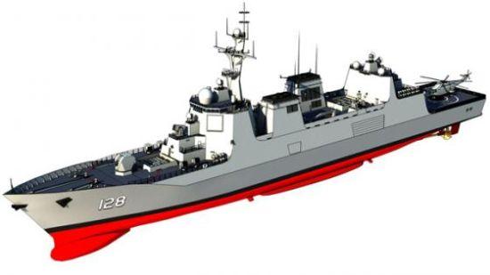 055型万吨级导弹驱逐舰设想图