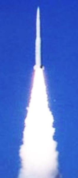 图片为网上流传的红旗-19导弹试射图片