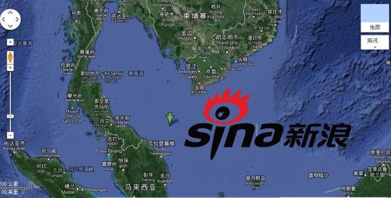 马来西亚航空公布MH370航班失踪经纬度