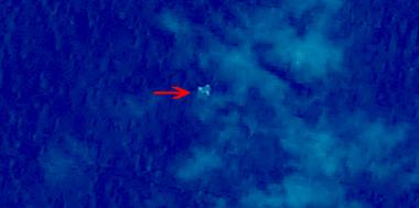图1 疑似漂浮物体1(中国资源卫星应用中心供图)