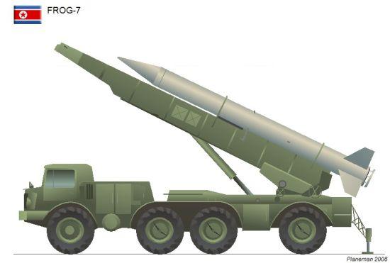 资料图:朝鲜炮兵装备的蛙7地地导弹