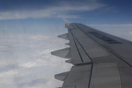 新浪航空从万米高空发布的微博图片。