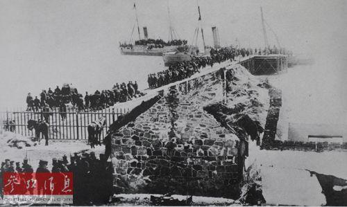 资料图:1895年,甲午战争结束后,日军在威海遣返被俘清军