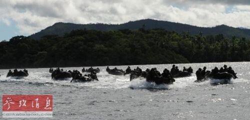 资料图:2012年,美菲在乌卢甘湾举行联合军演。