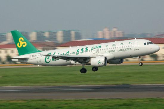 春秋航空空客A320飞机
