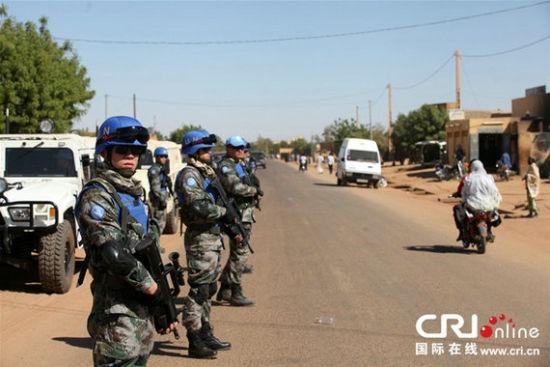 资料图:解放军派驻马里的维和部队。