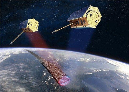 图为德国的TerraX-SAR合成孔径雷达对地监测卫星