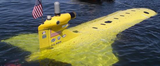 资料图:美国海军其中一型无人潜航器