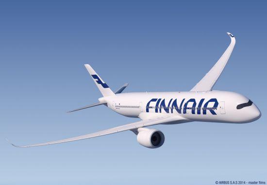 芬兰航空空客A350 XWB (正面)。