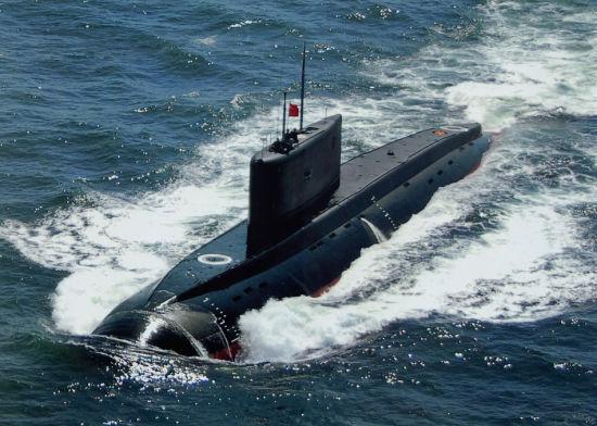 资料图:中国海军基洛级常规潜艇