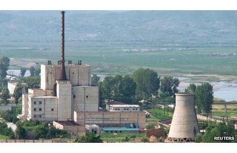 资料图:朝鲜宁边核反应堆。