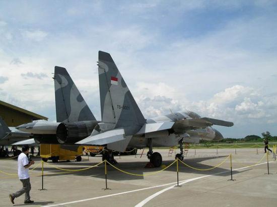 印尼空军新装备的苏-30MK2战斗机