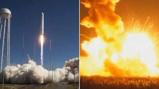 资料图:美无人运载火箭发射6秒后爆炸