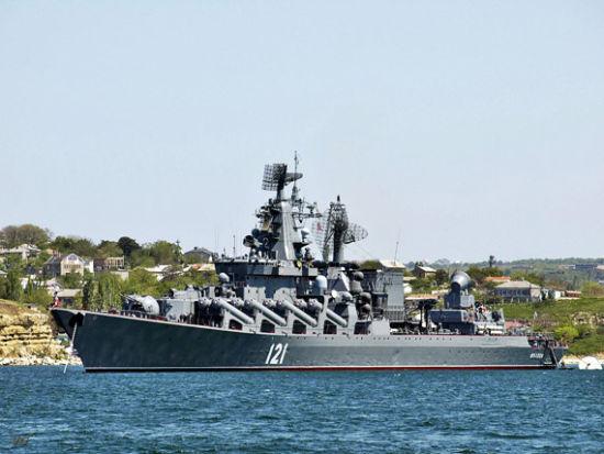资料图:俄军莫斯科号巡洋舰