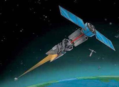 材料图:俄军反卫星兵器设想图。